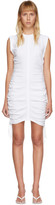 Alexander Wang White High Twist Side Tie Dress