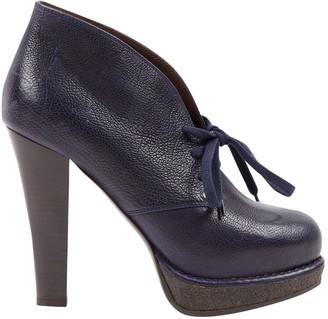 Bottega Veneta Navy Glitter Ankle boots