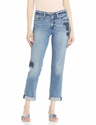 NYDJ Women's Jessica Boyfriend Jeans with Flower Embroidery