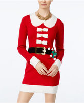 Hooked Up by IOT Juniors' Mrs. Claus Holiday Sweater Dress