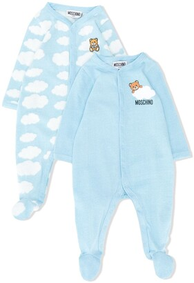 MOSCHINO BAMBINO Cloud-Print Pajamas