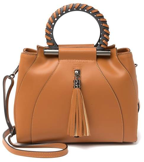 Persaman New York Edda Leather Tassel Satchel