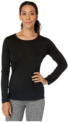Pendleton Long Sleeve Merino Tee (Black) Women's T Shirt