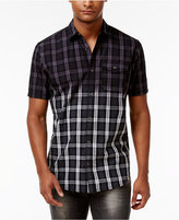 INC International Concepts Men's Ombre Plaid Shirt, Created for Macy's