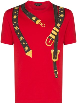 Versace belt-print cotton T-shirt