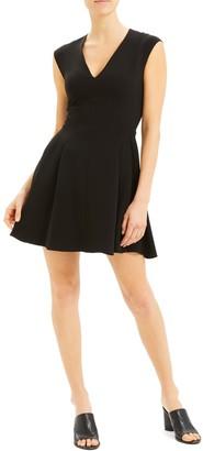 Theory Pleated Cap Sleeve Dress