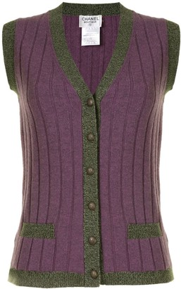 Chanel Pre Owned 1997 Knitted Vest