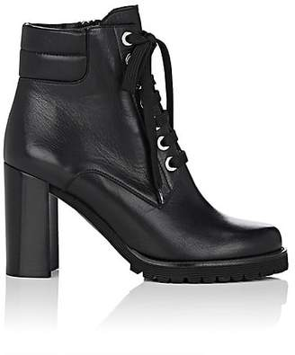Barneys New York Women's Lug-Sole Leather Ankle Boots - Black
