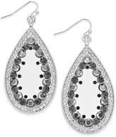 INC International Concepts Silver-Tone Crystal-Edged Teardrop Earrings, Only at Macy's