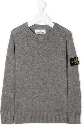 Stone Island Junior Logo Patch Jumper