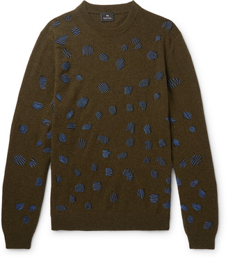 Paul Smith Embroidered Wool-Blend Sweater