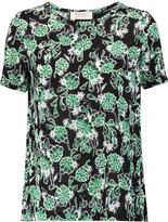 Marni Paneled printed jersey top