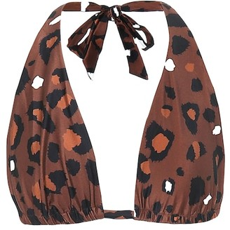 The Upside Adriana leopard-print bikini top