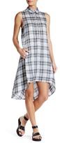 Max Studio Plaid Hi-Lo Dress