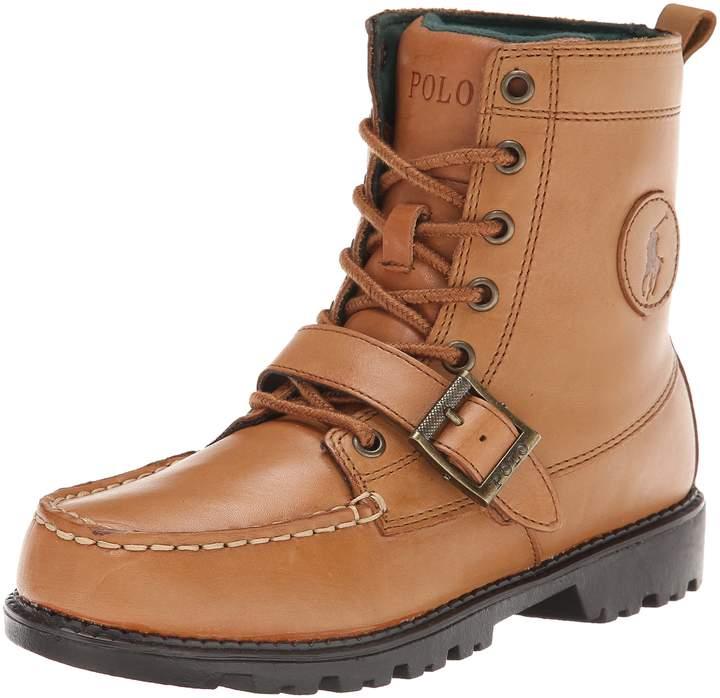 Polo Ralph Lauren Kids Boys Ranger HI II Fashion Boot Triple Burgundy Nubuck 5 Medium US Big Kid