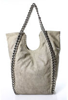 Stella McCartney Beige Canvas Silver Tone Chain Link Falabella Tote Handbag