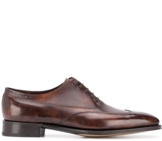 John Lobb lace up perforated-detail Oxford shoes