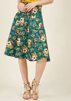 Banned Pretty Much Paradise Midi Skirt in XS