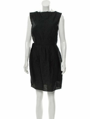 Lanvin Wool Raw Edge Dress Black