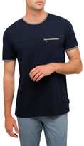 Ted Baker Tee With Zip Pocket
