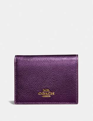 Coach Small Snap Wallet With Colorblock Signature Canvas