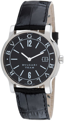 Bulgari Unisex Solotempo Leather Watch