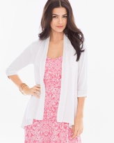 Soma Intimates Soft Jersey 3/4 Sleeve Open Wrap Bright White
