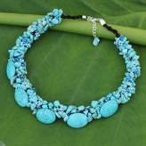 Fair Trade Beaded Necklace, 'Gush'