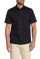 Theory Irving Short Sleeve Sphere Standard Fit Print Shirt