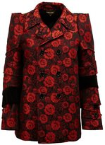 Comme des Garcons roses jacquard jacket - women - Cotton/Acrylic/Polyester/Wool - S