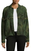 Free People Slouchy Military Cotton Jacket