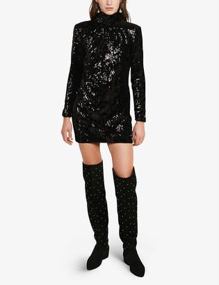 Claudie Pierlot Relief sequin-embellished mini dress
