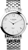Links of London Noble Slim Mens Stainless Steel Silver Bracelet W