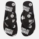 Armani Exchange Men's AX Flip Flops - Nero