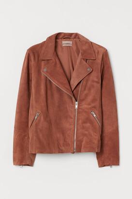 H&M H&M+ Suede Biker Jacket - Orange