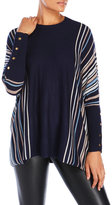 Joseph A Stripe Dolman Sweater