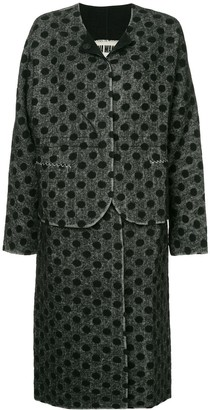 UMA WANG Polka Dot Single Breasted Coat