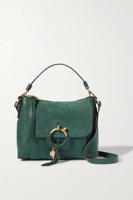 See by Chloe Joan Textured-leather And Suede Shoulder Bag - Emerald