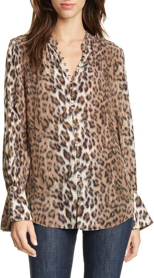 Joie Tariana Leopard Blouse