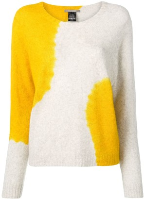 Suzusan Cashmere Two-Tone Sweater