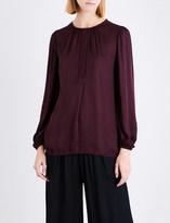 Raquel Allegra Ruched satin blouse