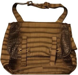Saint Laurent Messenger Khaki Suede Handbags