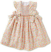 Edgehill Collection Little Girls 2T-4T Smocked Floral Flutter-Sleeve Dress