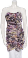 Elizabeth and James Silk Floral Strapless Top