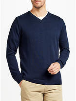 John Lewis Made in Italy Merino Wool V-Neck Jumper