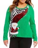 "Berek Plus ""Wobbly Mr Kringle"" Christmas Sweater"