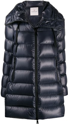 Moncler Logo Patch Mid-Length Puffer Jacket