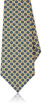 Kiton Men's Medallion-Print Silk Necktie
