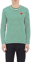 Comme des Garcons Men's Striped Long-Sleeve T-Shirt-GREEN