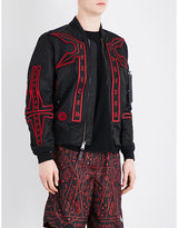 Marcelo Burlon Manuel Alpha Embroidered Bomber Jacket